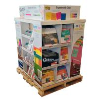 Buy cheap Portable Large Corrugated Cardboard Pallet Display Shelf For Stationery from wholesalers
