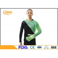 120cm Green Disposable Veterinary Plastic Glove , PE Long Sleeve Glove