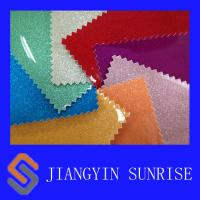 China Colorful Knitted PVC Synthetic Leather , Luggage Embossed Leather Fabric wholesale