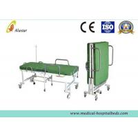 Powder Coated Steel Medical Foldable Hospital Bed With Mattress (ALS-F249) Manufactures
