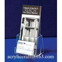 Manufacture Customized Plexiglass Brochure Display Stand Acrylic Brochure Holder Manufactures