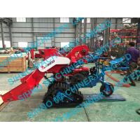 China 4LZ-0.7 mini paddy combine harvester with crawler, rice wheat 14HP wholesale