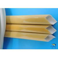 0.5mm to 35.0mm Natural Color Fiberglass Sleeving Coated by Polyurethane Resin Manufactures