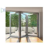 China Modern Style Accordion Aluminium Folding Doors Soundproof With Toughened Glass wholesale