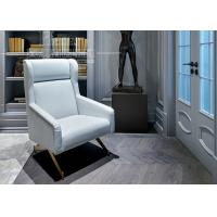 China Hotel Luxury Living Room Furniture / White Leather Sofa with Stainless Steel Leg on sale