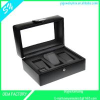 China 3 slots leather watch box ,watch case,watch storage box  for men on sale
