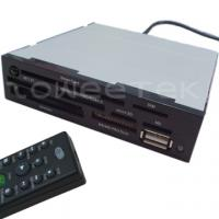 China 3.5 Inch IR Internal Card Reader (MMC/RS + MS(3 in 1) + CF + Smart Card + USB + IR Receiver) - (ZW-13015) on sale