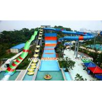 Large Boomerang Water Pool Slide Fiberglass 4 Persons/raft with 18m High Manufactures