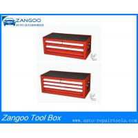 China Red / Black Rolling Tool Cabinet 2 / 3 Drawer Tool Box With Powder Coating on sale