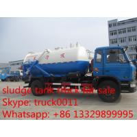 2017s best seller dongfeng 153 8cbm sewage sucking vehicle for sale, factory sale best price dongfengLHD vacuum truck