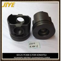 China excavator engine piston, komatsu engine part, S6D125 piston fit to pc400-6 wholesale
