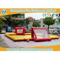China Subbuteo Inflatable Football Field / Soccer Area inflatable soccer  For Bubble Bumper Ball Football Games wholesale