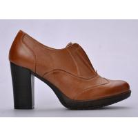 China Durable Open - Top Womens Booties Shoes Brown For Autumn / Spring on sale