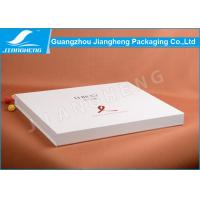 Big white book-shaped cardboard gift boxes with logo hot stamped Manufactures