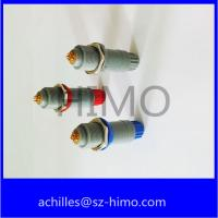 quick release male and female single key 1P series 7 pin Lemo plastic push pull connector with red color Manufactures