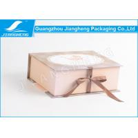 C2S Paper Material Rigid Cardboard Empty Gift Boxes With Bowknot Ribbon Manufactures