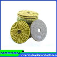 China 4'' Flexible Wet Polishing Pads for Granite on sale