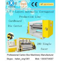 High Speed Complete Corrugated Cardboard Box Making Machine For Kraft Paper Making Manufactures