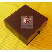 China Personalized Kraft Paper Gift Box Lightweight Black With Ribbon wholesale