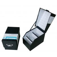 Black Rigid Cardboard Storage Gift Boxes with Laminated, Hot Stamping for CD Case Manufactures