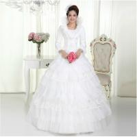 China Sexy Lace heart neckline puffy wedding dresses / high collar unique Wedding gowns on sale