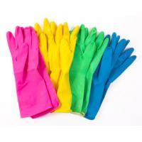 China Odourless Colored Hand Protection Gloves Anti - Slip Abrasion Resistant on sale