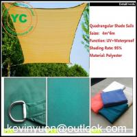China Sun Shade Sail 13 X 16.5' FT Rectangle Shading Canopy Sand Waterproof polyester on sale