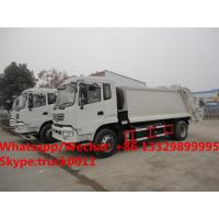 China Dongfeng 4*2 RHD 12-14m3 compacted garbage truck for sale, Factory sale best price 10tons compress garbage truck wholesale