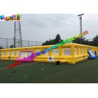 Customized Four Goal Inflatable Football Arena , Soapy Football Soccer Pitch Manufactures