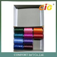 Spun Polyester Sewing Thread Garments Accessories Small Tube 400 yds - 1000yds Per Tube Manufactures