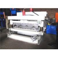 760 Glazed Tile Roll Forming Machine , Roof Step Tile Roll Forming Machine 5.5KW