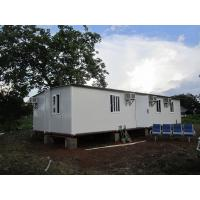 China Modular Portable Emergency Shelter , Foldable Prefabricated Homes / Corrugated Tiles on sale