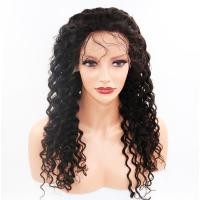 China 100% Real Glueless Full Lace Wigs Full Density Natural Color #1B wholesale