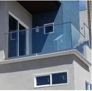Buy cheap New design aluminium U channel frameless glass railing for balcony from wholesalers