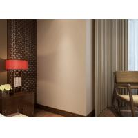 Non - woven Pure Beige Modern Removable Wallpaper for Bedroom , Hotel Manufactures