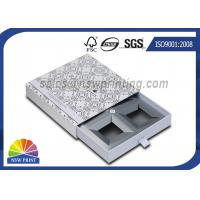 Handmade Delicate Rigid Slide Box Silver Cardboard Liners Paper Drawer Box Manufactures