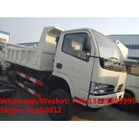 China Factory customized cheapest price CLW brand 4*4 RHD diesel dump tipper truck for sale, CLW dump pickup vehicle wholesale