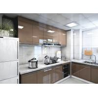 China L Shape Modern Brown Lacquer Kitchen Furniture With Blum Hardware 3 Years Warranty wholesale