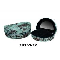Leather Cardboard Black Earring Box Fashionable Jewelry Box With Mirror & Zipper Manufactures