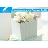 Empty Cardboard Paper Flower Gift Boxes Square Shape Full Color Printed Manufactures