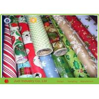 China Christmas Gift Wrapping Paper , Anti Curl Seasonal Wrapping Paper Roll on sale