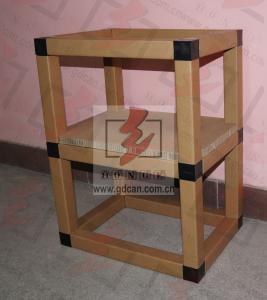 Corrugated Cardboard Storage Shelves Eco Friendly For Showroom Manufactures