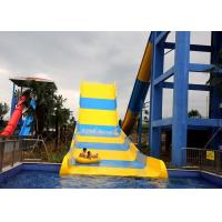 Large Water Attractions Fiber Glass Water Slide For Outdoor Aqua Park / Holiday Resort Manufactures