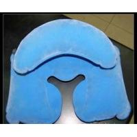 China Comfortable Inflatable Travel Neck Pillow 0.4mm flocked PVC EN71 /  Reach5 , 6P on sale