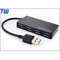 Portable Parallel 4 Ports USB 3.0 Hub Slim Design Connecting USB 3.0 Cable Manufactures