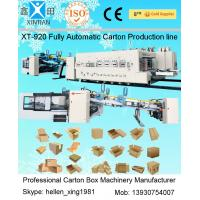 Cardboard Carton Packing Machine Slotter Die - Cutter Inline With Folder Gluer Bundler Manufactures