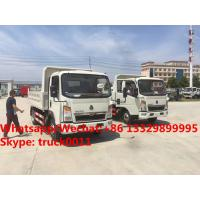 China High quality and good price customized SINO TRUK HOWO 4tons dump tipper truck, Factory sale lower price HOWO tipper wholesale