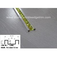 China Polished Silver Glass Mosaic Tile Trim Aluminium Alloy Edge Corrosion Resistant on sale