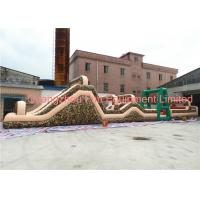 China Giant Camouflage Inflatable Obstacle Course , Boot Camp Obstacle Course For Kids 24*3.5m wholesale