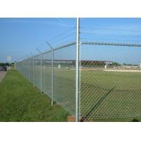 China Steel Galvanized Chain Link Fence With Barbed Wire In The Top on sale